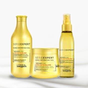 Protection solaire pour tous types de cheveux.